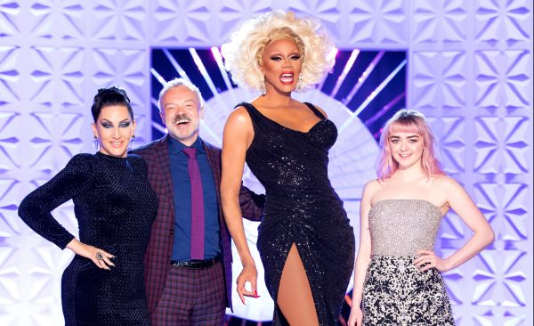 Maisie Williams beside RuPaul, possibly in Secret Celebrity Drag Race