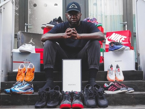 Muslim man donates hundreds of designer trainers to the homeless every month