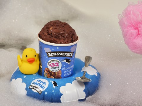 Ben & Jerry's is giving away free tub floats so you can have ice cream in the bath