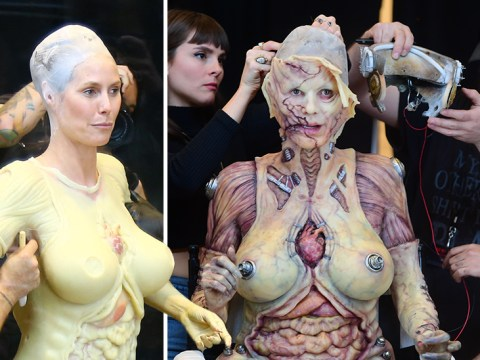 Heidi Klum 'almost ready' for her annual Halloween bash after seven-hour transformation