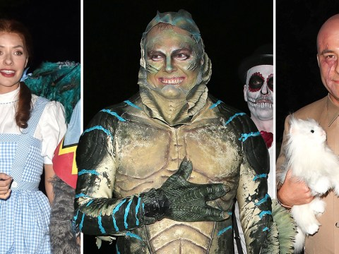 Alan Carr as a fish, Holly Willoughby and David Walliams converge on Jonathan Ross's famous Halloween party