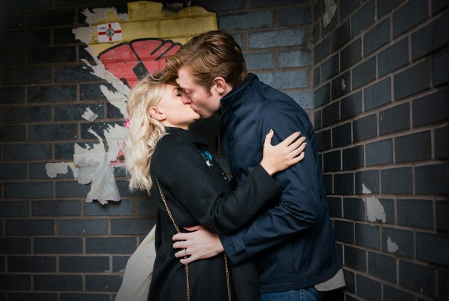 Daniel and Bethany kissing in Coronation Street