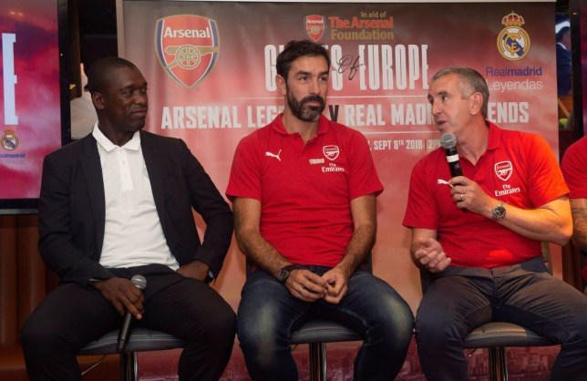 Nigel Winterburn, right, almost joined Chelsea before signing for Arsenal