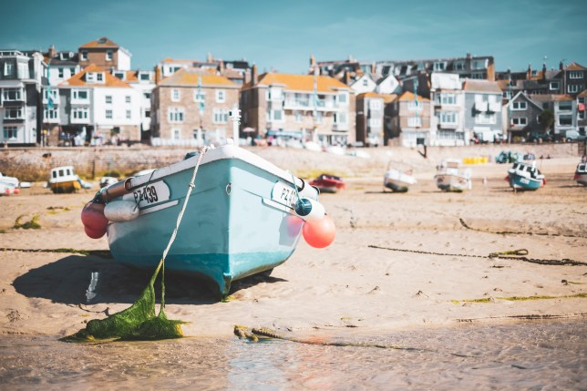 Small boat in St Ives harbour