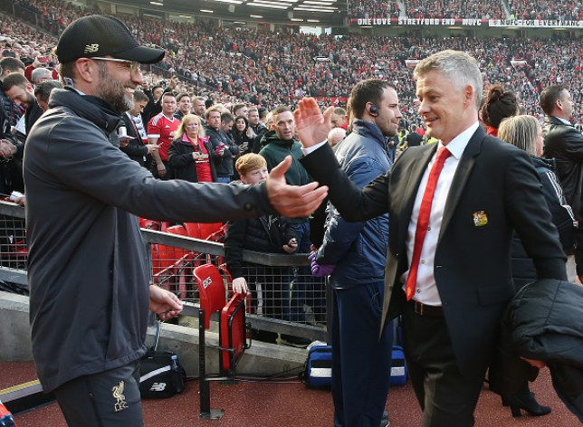 Premier League leaders Liverpool take on Manchester United at Old Trafford