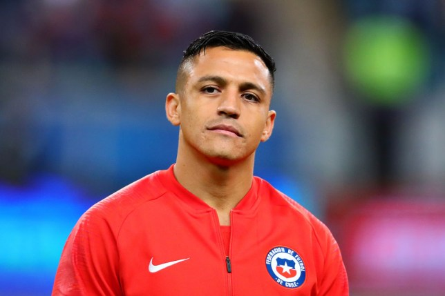 Manchester United's Alexis Sanchez has suffered an ankle injury with Chile