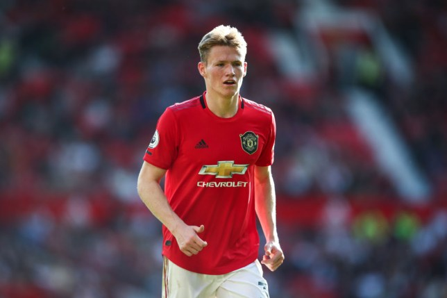 Scott McTominay during Manchester United's win against Leicester City