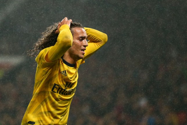Matteo Guendouzi impressed during Arsenal's 1-1 draw against Manchester United