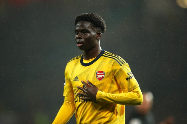 Arsenal winger Bukayo Saka impressed Man Utd legend Roy Keane and Liverpool icon Jamie Carragher