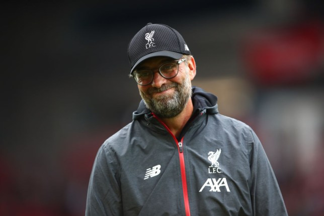 LIVERPOOL, ENGLAND - OCTOBER 05: Jurgen Klopp the head coach / manager of Liverpool during the Premier League match between Liverpool FC and Leicester City at Anfield on October 5, 2019 in Liverpool, United Kingdom. (Photo by Robbie Jay Barratt - AMA/Getty Images)