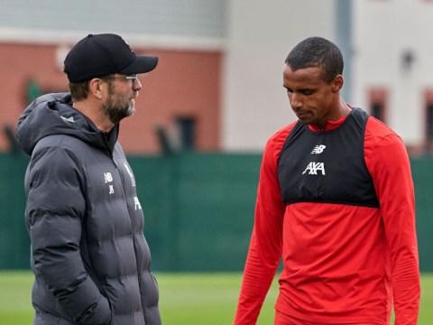Liverpool boss Jurgen Klopp decides to start Alisson and Joel Matip against Manchester United