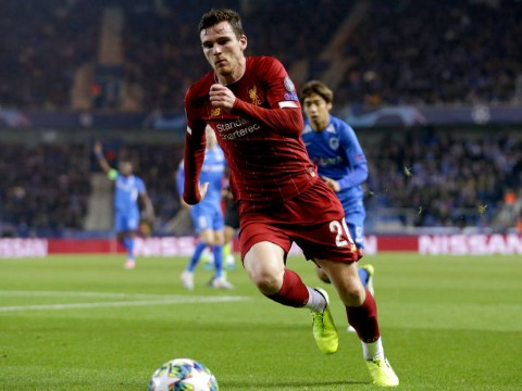 Liverpool's Andy Robertson to be fit for Tottenham clash after minor injury against Genk