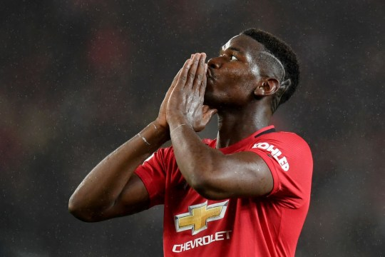 Paul Pogba curses his luck after missing a chance for Manchester United