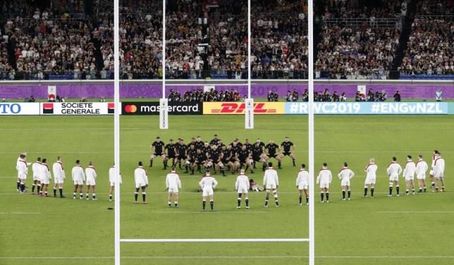 New Zealand perform the haka against England