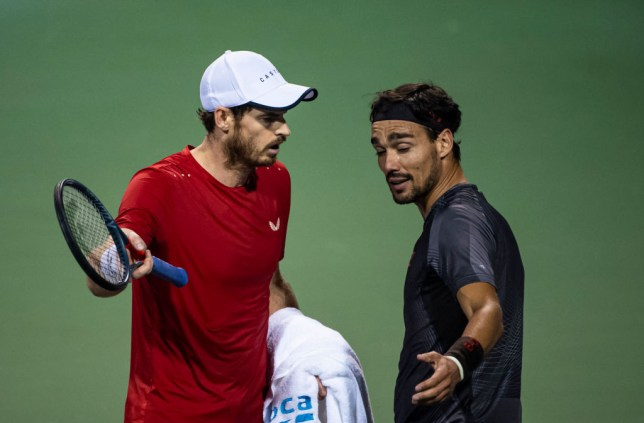 Andy Murray and Fabio Fognini kept fighting in the locker room after heated on-court row