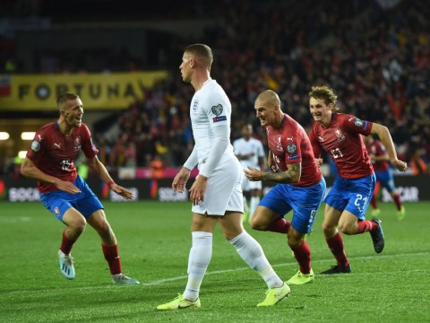 England lose first tournament qualifier in 10 years as Czech Republic come from behind in Prague