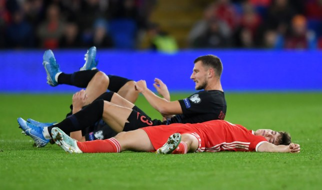 Man Utd star Daniel James was just 'acting', according to Wales manager Ryan Giggs