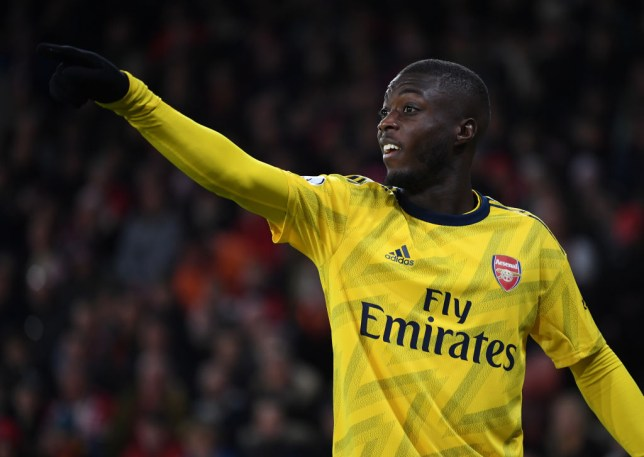 SHEFFIELD, ENGLAND - OCTOBER 21: Nicolas Pepe of Arsenal during the Premier League match between Sheffield United and Arsenal FC at Bramall Lane on October 21, 2019 in Sheffield, United Kingdom. (Photo by David Price/Arsenal FC via Getty Images)