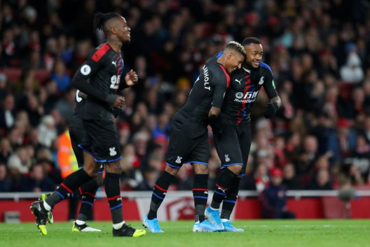 Arsenal threw away a two-goal lead against Palace