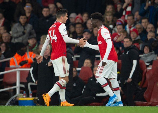 Granit Xhaka swore at Arsenal fans as he was substituted during the side's Premier League draw with Crystal Palace