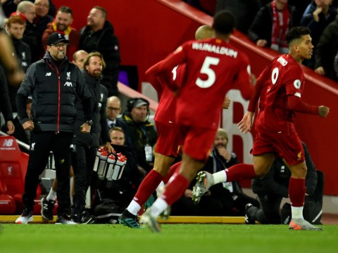 Jurgen Klopp was 'satisfied' with Liverpool stars at half-time against Tottenham