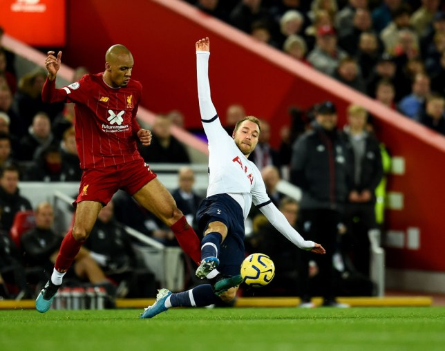 Fabinho produced an outstanding performance in Liverpool's Premier League win over Tottenham