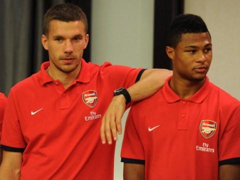 Lukas Podolski jokes Serge Gnabry should win Arsenal's Player of the Month award