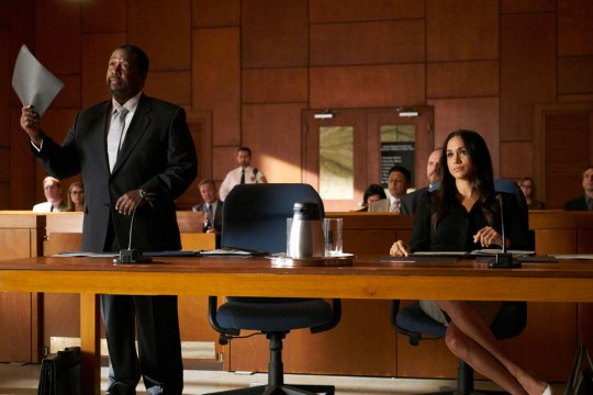 Wendell Pierce and Meghan Markle in Suits