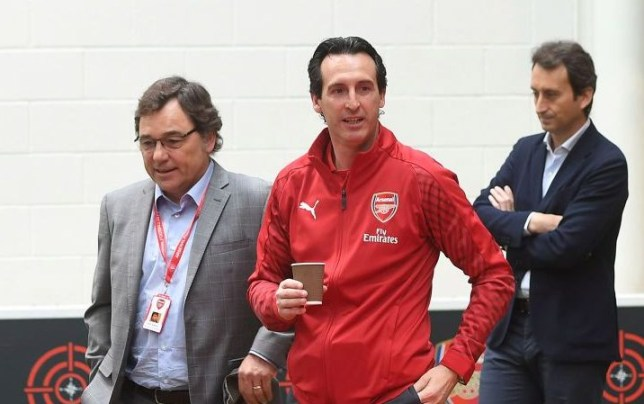 Raul Sanllehi reveals the target Unai Emery has been set this season at Arsenal