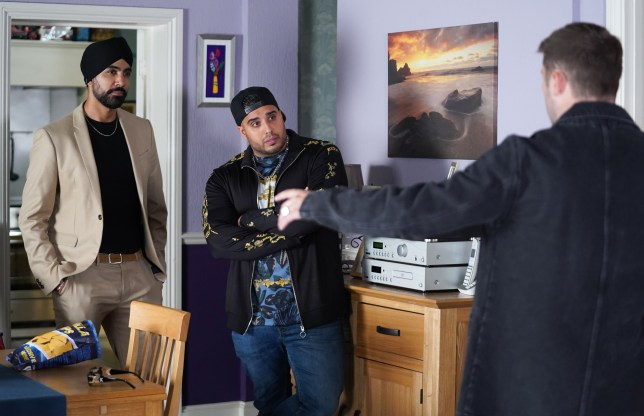 Ben Mitchell meets Kheerat and Jags Panesar in EastEnders