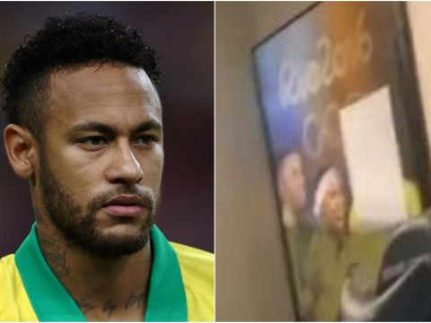 Neymar has Gabigol's face covered up in photo at his home