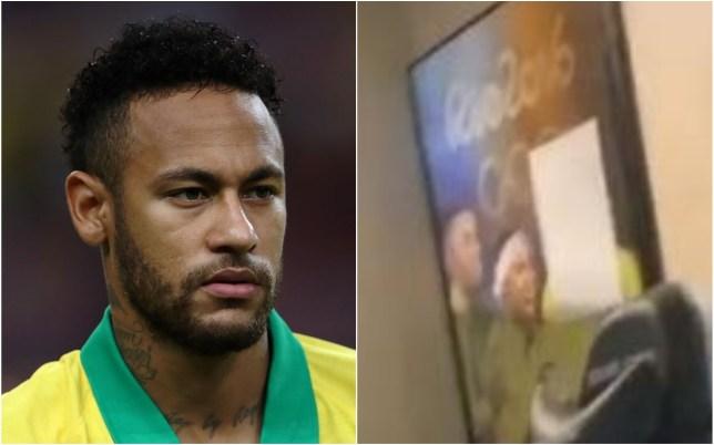 Neymar has raised questions about a feud with Brazil forward Gabigol