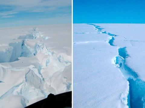 Giant iceberg size of Sydney breaks away in Antarctica