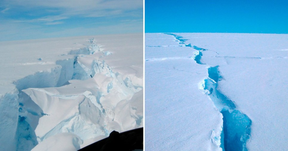 Giant iceberg size of Sydney breaks away in Antarctica