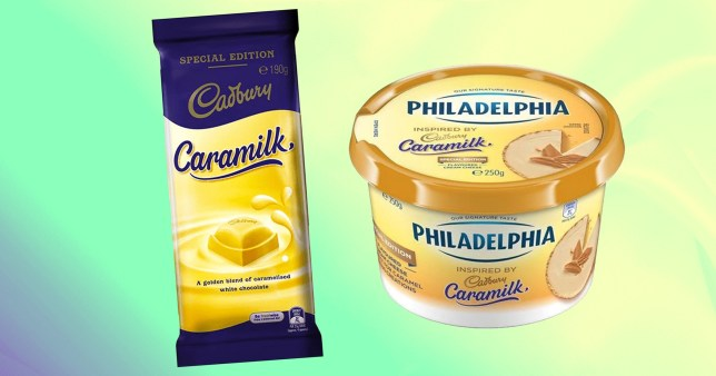 Caramilk cream cheese