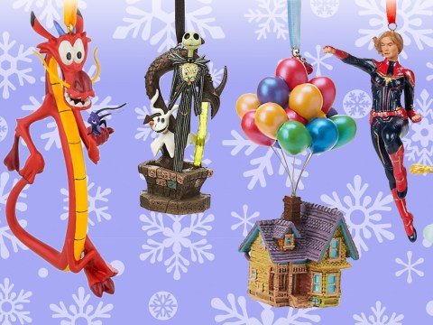 Disney launches new line of Christmas baubles including Captain Marvel and the Up house