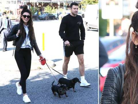 Michelle Keegan enjoys dog walk with husband Mark Wright after admitting to long-distance struggle