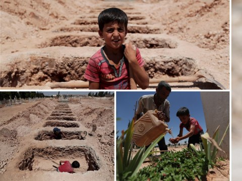 Brothers forced to dig graves for money after fleeing Isis