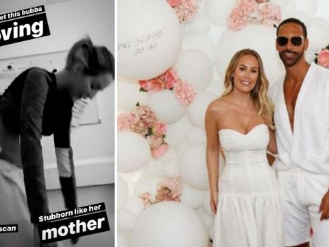 Lydia Bright obsessed with adorable sonogram snap after Kate Wright and Rio Ferdinand's 'fairytale' wedding
