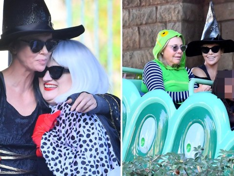 Charlize Theron is Halloween queen as she gets spooky for family Disney World trip