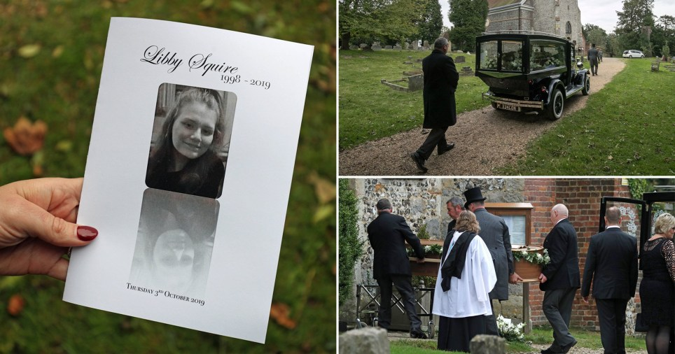 Libby Squire's family pay tribute to 'darling Pie' as hundreds attend funeral