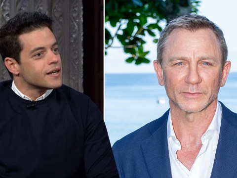 Rami Malek 'is a Bond girl now' after kissing 007 Daniel Craig on set of No Time To Die