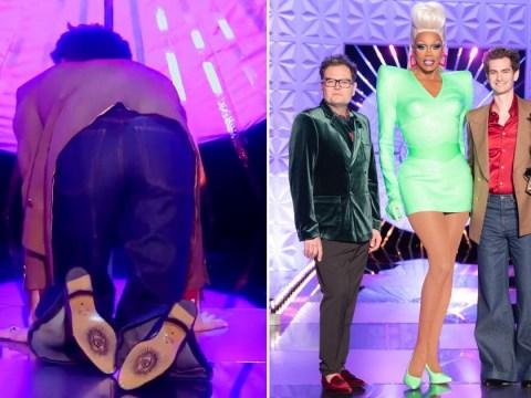 Drag Race UK reveals Andrew Garfield's questionable catwalk in behind-the-scenes clip