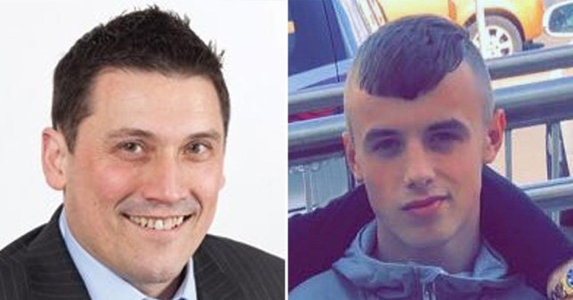 Ewan Ireland, who can finally be unmasked today as he turns 18, murdered lawyer Peter Duncan in August (Picture: PA)
