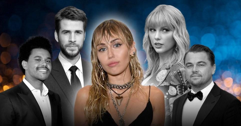 The Weeknd, Liam Hemsworth, Miley Cyrus, Taylor Swift, Leonardo DiCaprio