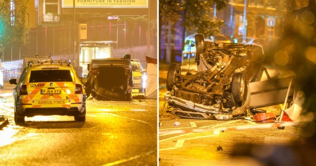 Two men dead in Manchester car crash