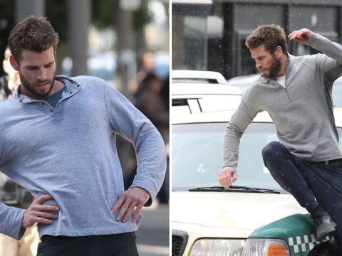 Liam Hemsworth gets hit by a car as he returns to work following Miley Cyrus split drama