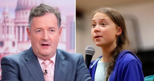 Piers Morgan and Greta Thunberg