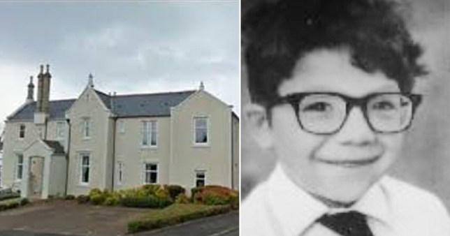 St Columba's College in Largs, Ayrshire, next to former student Aldo Moroni who was allegedly beaten to death by a member of staff in 1980