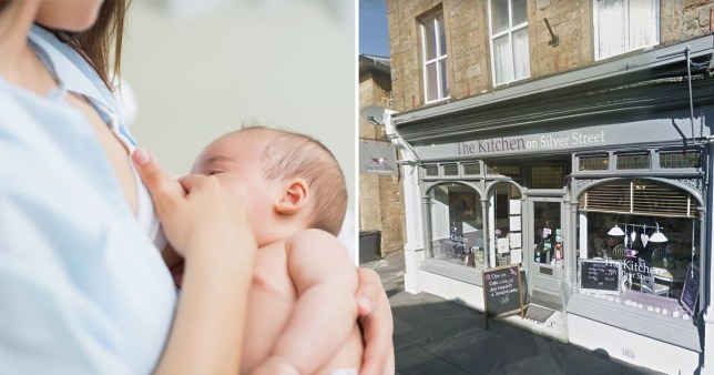 Cafe owner defends asking breast feeder to cover up